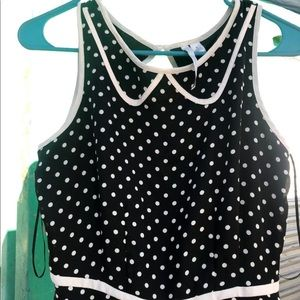 Lauren Conrad Dots Dress 👗 Size 6